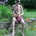 Charlie Robbins with the Running Barefoot Hall of Fame Award (2003 July 4) Connecticut