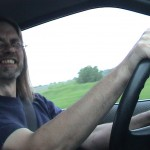 Pat driving (2003 May 18) Colorado to Michigan