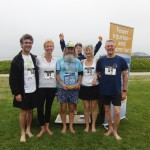 Stefan, Caity, Ken Bob, Roy (in back), Jan, and Joe at The Naked Foot 5K, Santa Barbara CA 2011 May 21
