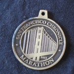 finishers medal San Francisco Marathon (2003 July 27)