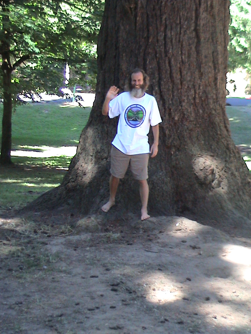 Ken Bob in front of big tree