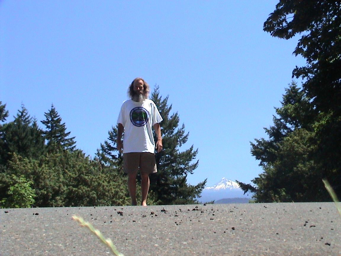 Ken Bob with Mount Hood