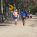 Alex and Julian running in Griffith Park, Los Angeles, CA 2010 March 27 Ken Bob's Running Barefoot Play-Fun-Shops