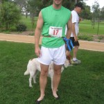 Vibram runner with dog