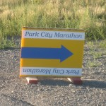 Park City Marathon sign