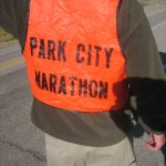 An official Park City Marathon official
