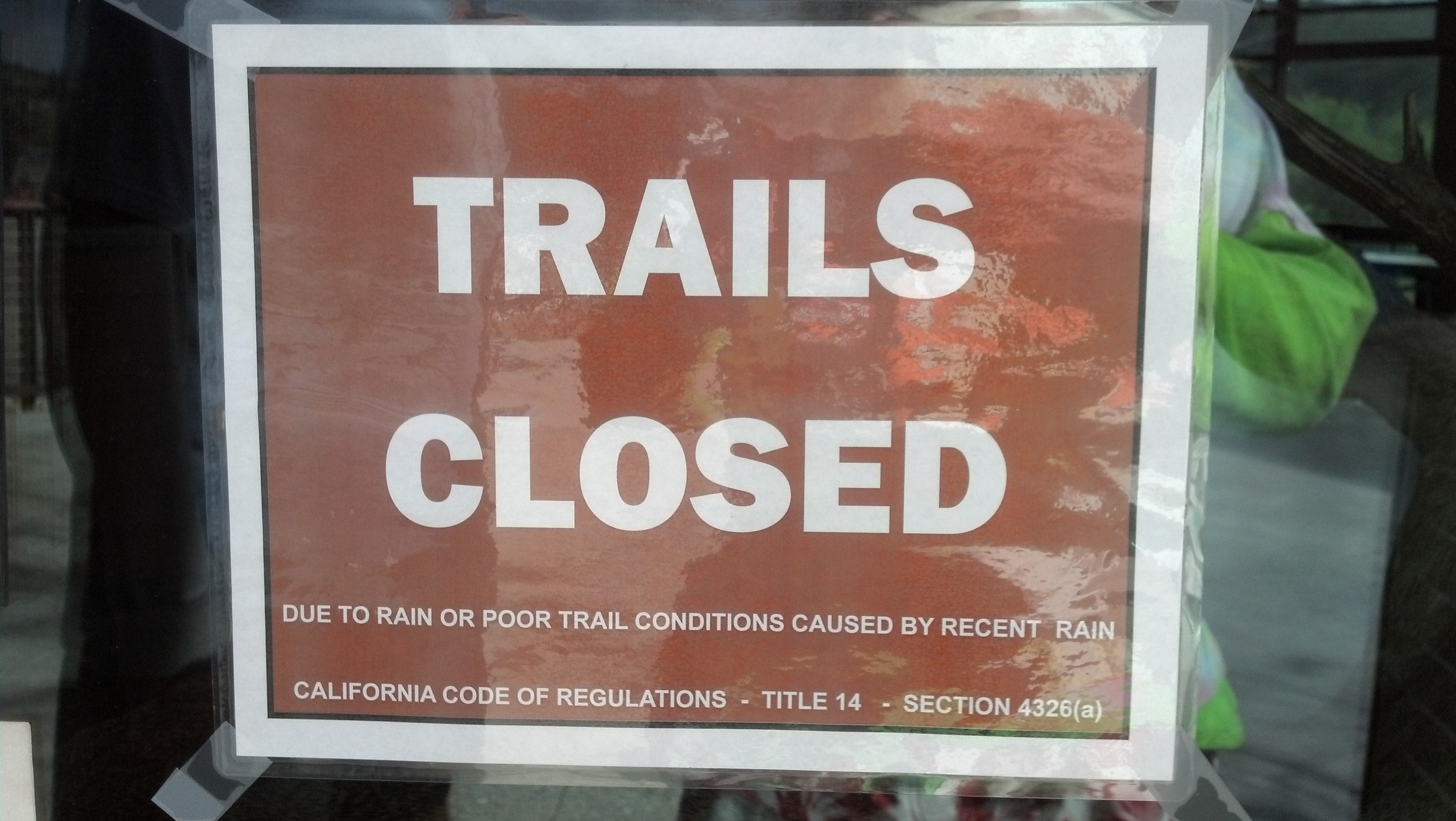 We met another group of folks who said they had just been out on the trails for 2 hours