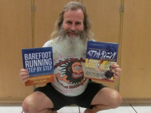 Ken Bob Saxton with english and japanese Barefoot Running Step by Step