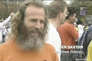 Ken Bob Saxton, Barefoot Runner
