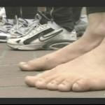 Ken Bob's feet at start line