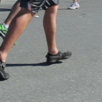 Heel strike in Vibrams. Not fake. Surf City Marathon 2012