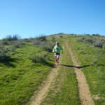 Ken Bob running on Chino Hills Trails