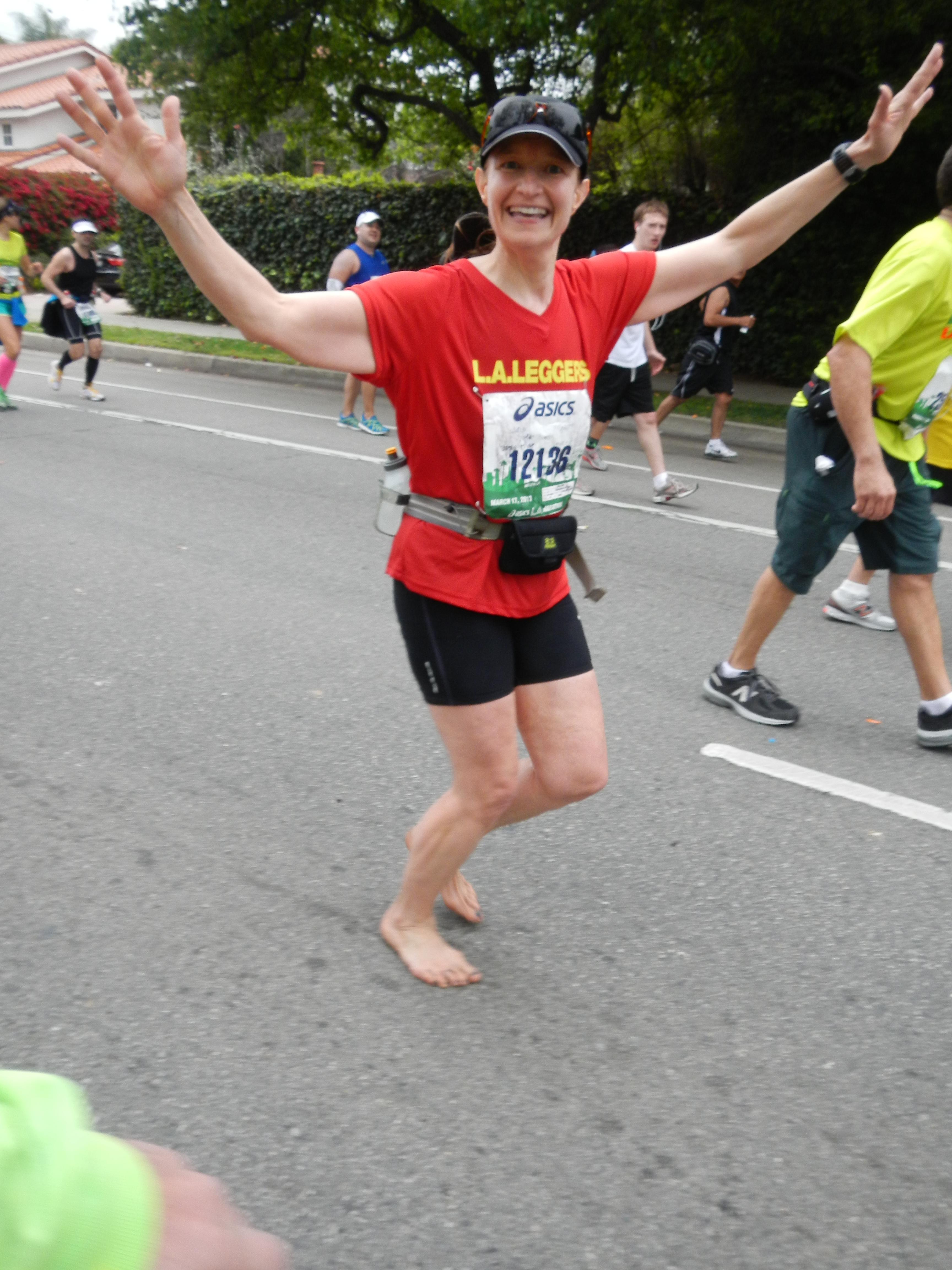 Julia Stokes, barefoot runner #12136
