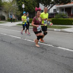 Carolina Nunez, barefoot (part of marathon) runner #13942