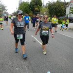 DSCN1257 It was her idea! Erin Gayer runner #16227 and Meagan Virrey runner #12034