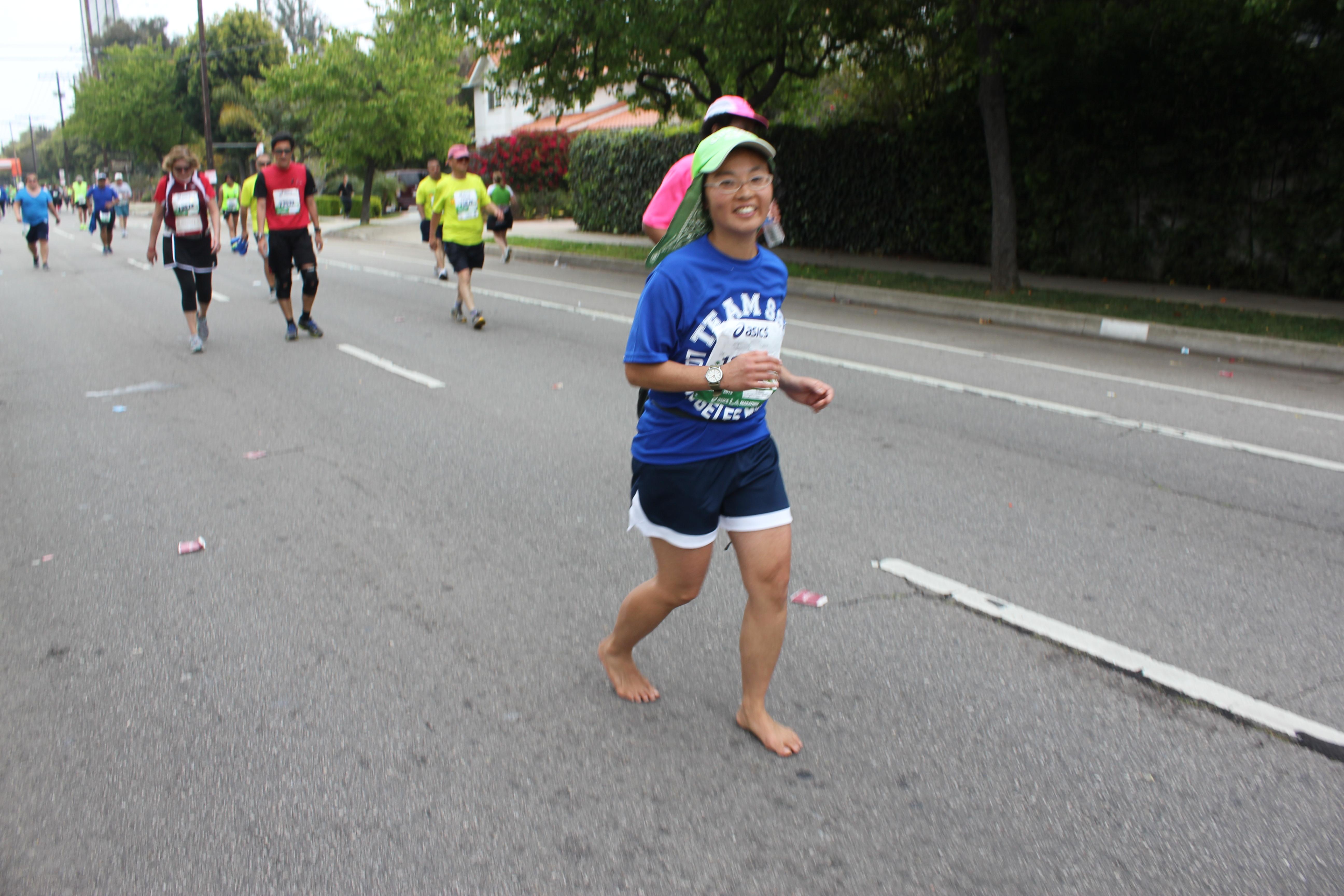 Aika Makimura, barefoot runner #18732
