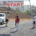 The gravel at the start and finish line was the only real challenge for barefoot runners - other than the distance and the steep hills!