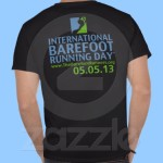 International Barefoot Running Day 2013 T-shirts