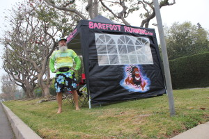 The BarefootRunning.com Canopy will be set up at the Sunset Beach Barefoot Running Day event