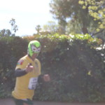 the Masked Barefoot Runner
