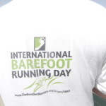 International Barefoot Running Day T-Shirt back