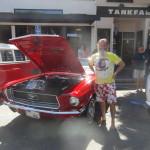 Ken Bob and 1968 Mustang convertible