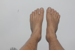 4 weeks after broken 5th metatarsal - right foot