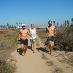 Julian, Bernard, and Efrem in the Bolsa Chica Nature Preserve