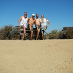 Bernard, Julian, Efrem, and Ken Bob in the Bolsa Chica Nature Preserve