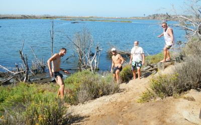 Efrem, Julian, Ken Bob, and Bernard in the Bolsa Chica Nature Preserve