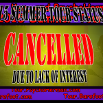 2015 Summer Tour – cancelled