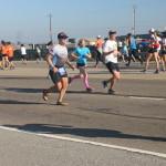 Brian Acosta half marathon in sandals