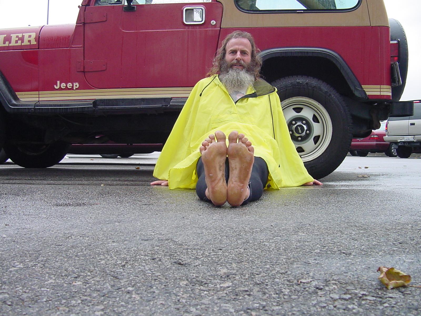 Ken Bob's soles after Santa Clarita Marathon 2004 November 07 Santa Clarita CA