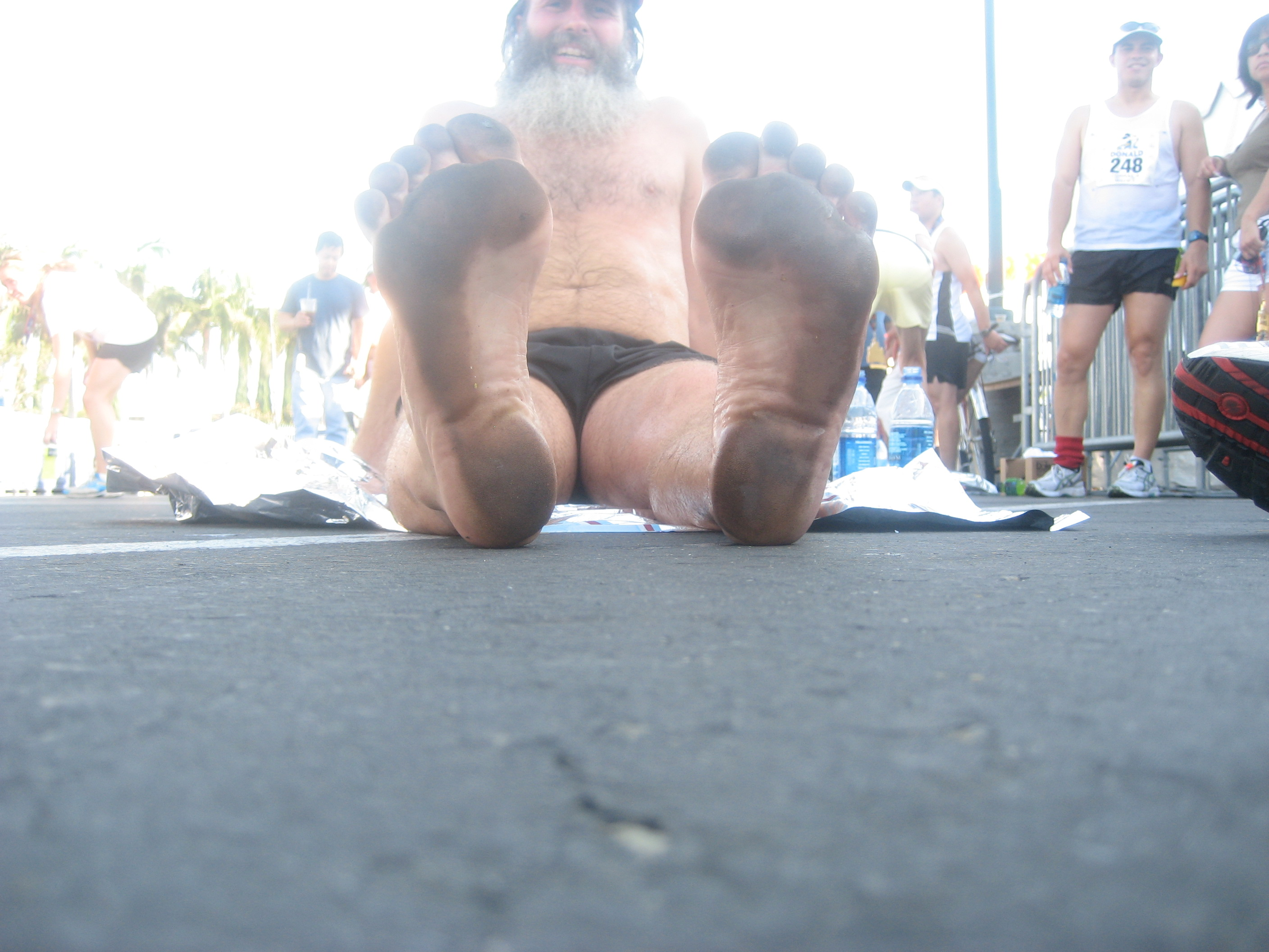Ken Bob's soles after Disneyland Half Marathon 2007 September 03 Anaheim CA