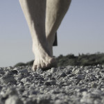 running barefoot on gravel