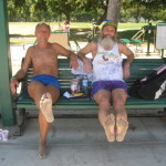 Todd and Ken Bob's soles 2009 June 28 Legg Lake Marathon, El Monte CA