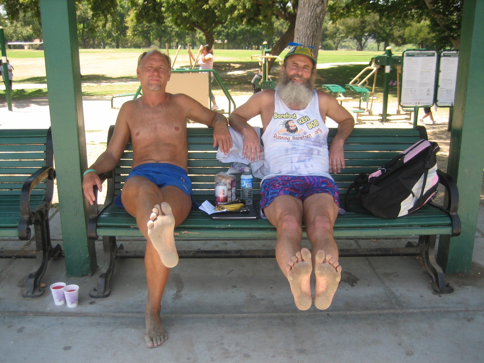 Todd and Ken Bob's soles 2009 June 28 Legg Lake Marathon, El Monte CA