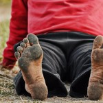 Soles of Barefoot Ken Bob 2011 May 14 Born to Run Ultra Marathons, Los Olivos CA – by Luis Escobar