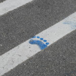 Blue footprint