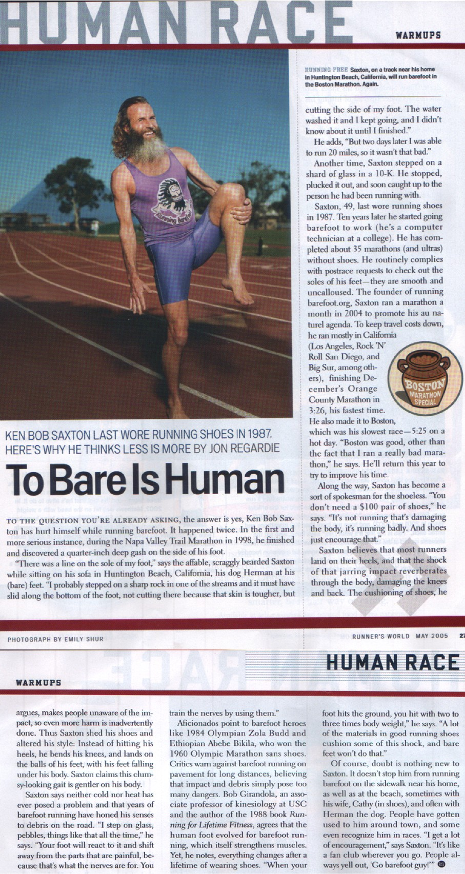 To Bare is Human