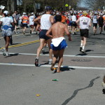 Unidentified Barefoot Runner, Boston Marathon 2005