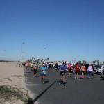 Seagulls attacking runners in the Surf City Marathon (not really attacking…)