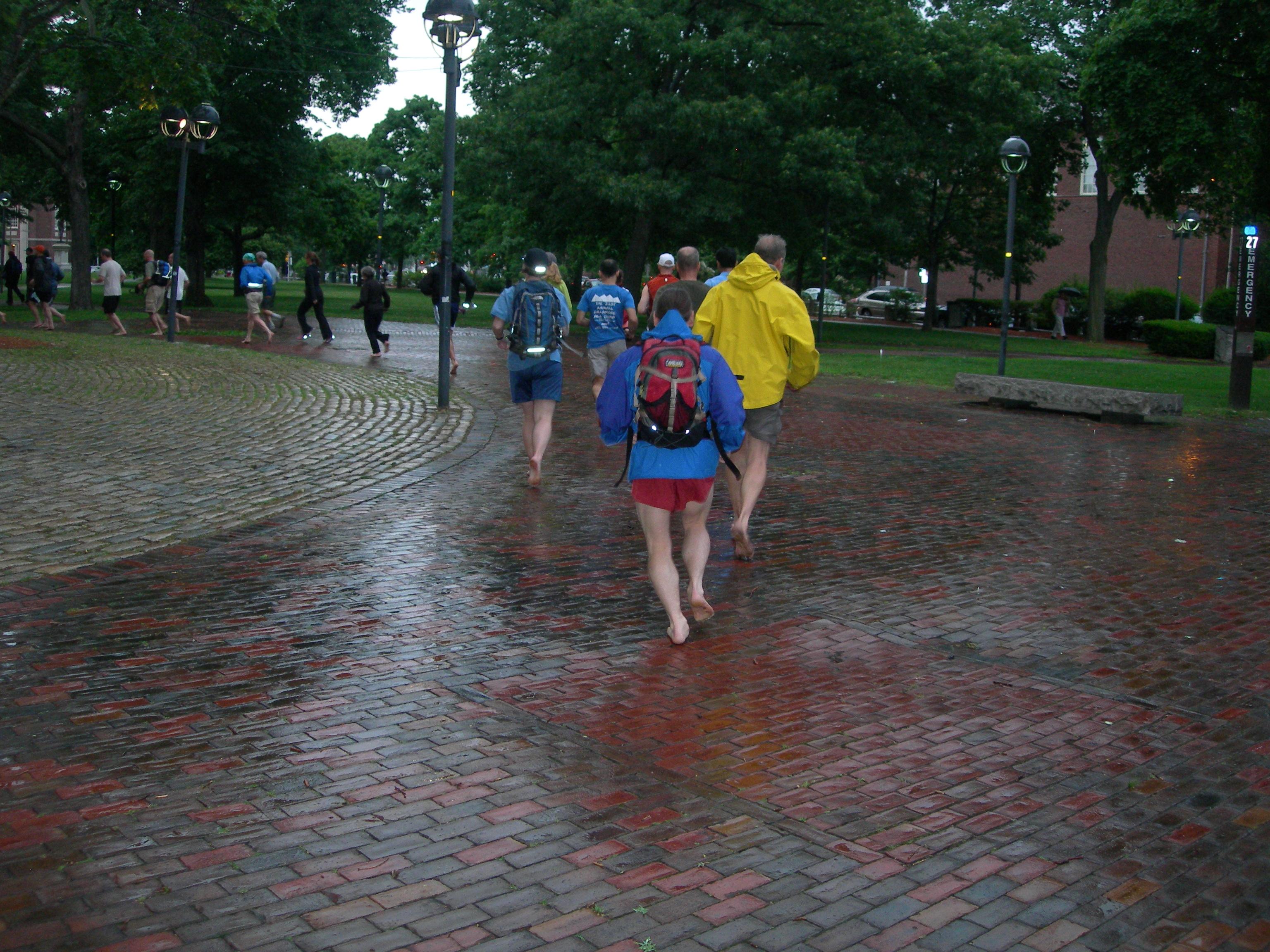 Follow the barefoot brick road. 2010 June 9, Cambridge MA