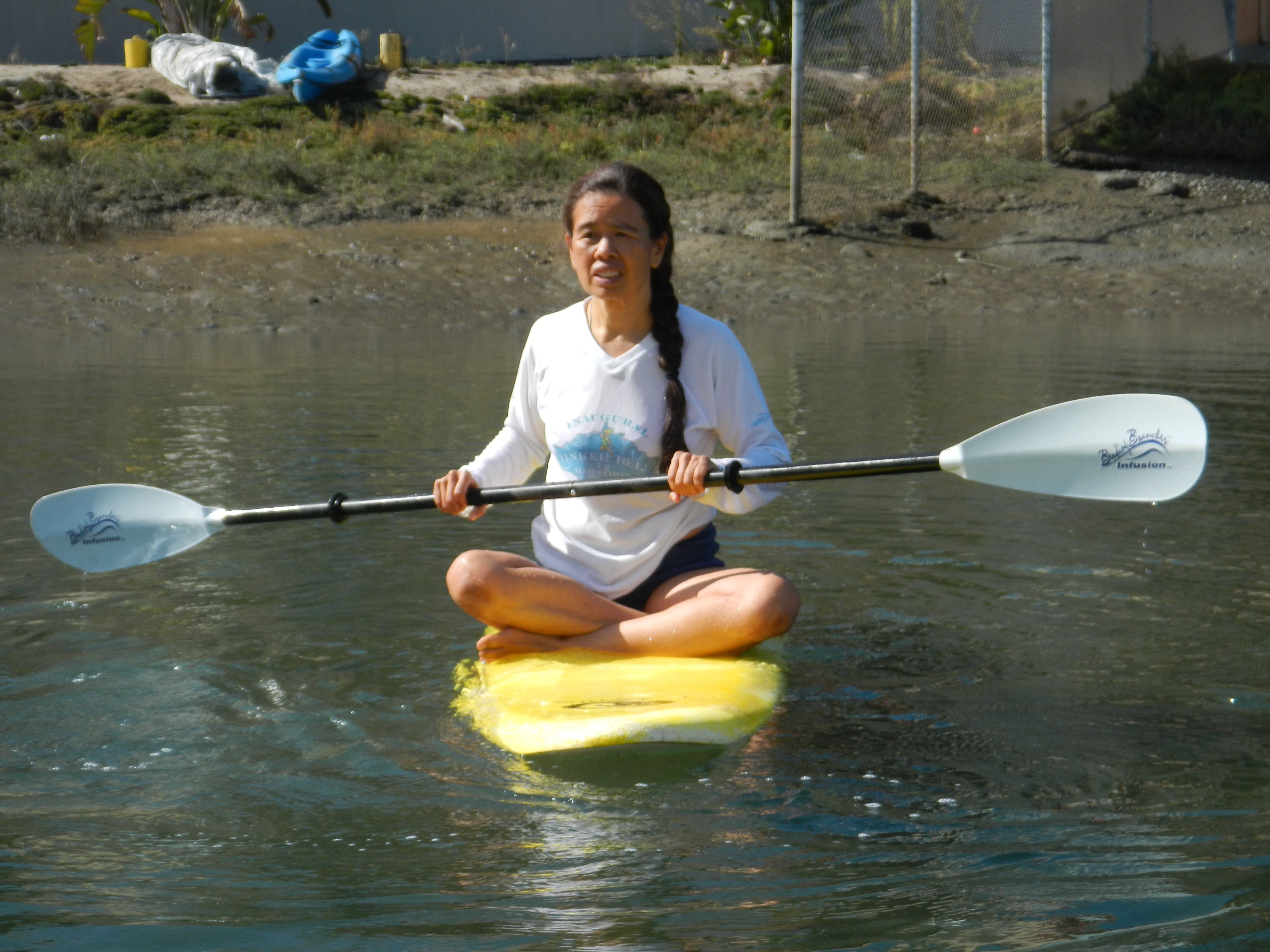 Cathy also teaches SUP Yoga